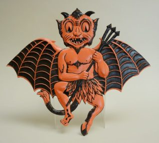 Devil Bat Diecut, Germany, 1935