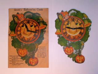 Hallowe'en Clock & Envelope, USA, Beistle, 1923
