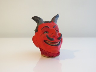 Composition Devil Head Lantern, Germany, 1920s