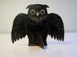 Owl Table Decoration with flip-out base, Beistle, 1930-1931