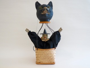 Black Cat Hot Air Balloon carrying Mechanical Witch, Germany,1920s