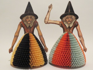 Spellbinding. Pictured for the first time together the Beistle Company's elusive witch table decorations in a bewitchingphotomontage.